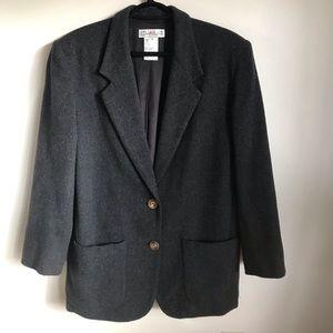 Vintage Chaus Cashmere Wool Blazer Jacket SZ 12